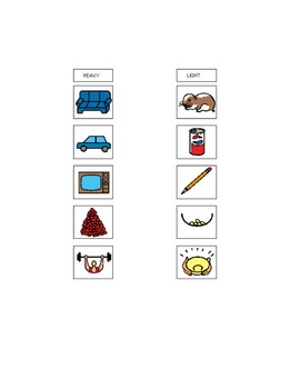 Boardmaker Printable Attribute Categorization Activity