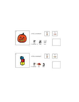 Boardmaker Printable Book: Is This a Snowman?