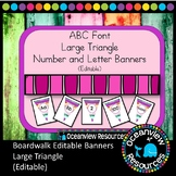 Large Triangle Bunting - ABC Font (Editable) Colored wood design