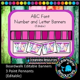 Boardwalk Bunting - ABC Font (Editable) Triangle Banners