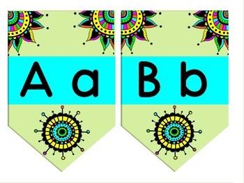 Boardwalk Bunting Single point, rectangle shape - DOODLE theme (editable)