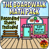 Boardwalk Centers Math Activities Candy Centers Recording Sheets Worksheets
