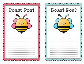 Boast Posts - Positive Notes Home - For Students and Parents