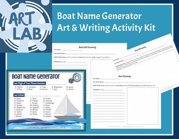 Boat Name Generator- Art and Writing Activity Kit {Printable}