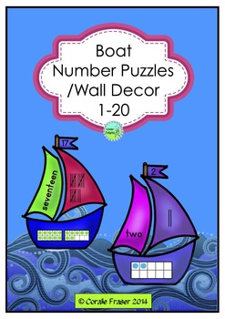 Boat Number Puzzles Maths Center or Number line 1-20