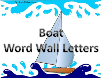 Boat Theme Word Wall Letters