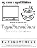 Boat - Transportation - Name Practice Editable Sheet - #60