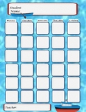 Boat and Water Themed Attendance Sheet