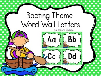 Boating/Camping Word Wall Letters Dollar Deal