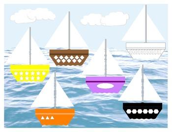 Boats 6 in 1 File Folder Game