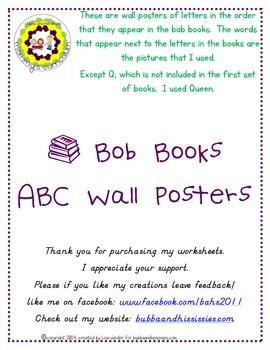 Bob Book ABC  wall posters.