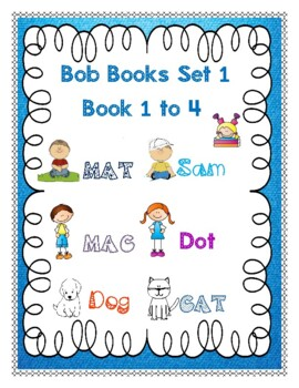Bob Books Set 1 Books 1-4 Read, Write and Review (New)- FREE!
