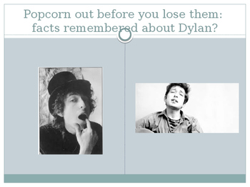 Bob DYLAN PowerPoint on the Poet, the Musician, & Noble Prize for Lit. WINNER