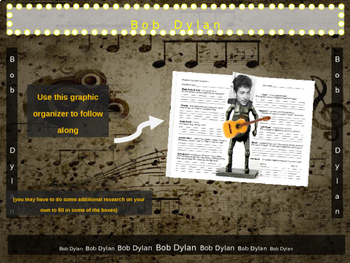 Bob Dylan: 25 slides with text, hyperlinks & primary sources (with handouts)