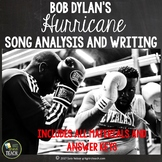 Bob Dylan Hurricane Close Reading and Writing Prompt Lesson Plan