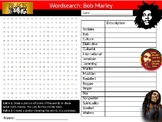 Bob Marley Wordsearch Black History Month Keywords Settler Homework Cover