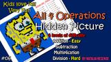 Bob - Mystery Picture - 4 operations - add, sub, multiplic