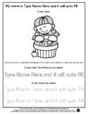 Bob for Apples - Name Tracing & Coloring Editable Sheet -