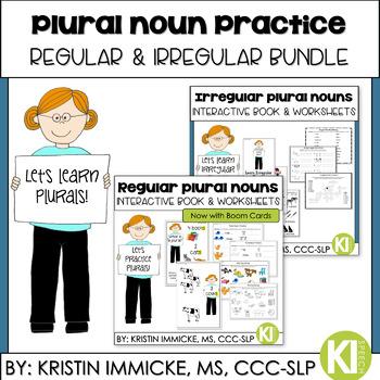 Regular & Irregular Plural Noun Practice {Bundle}