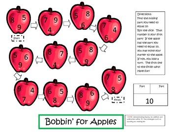 Bobbin' for Apples Math Game
