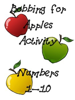 Bobbing for Apples Activity Numbers 1-10