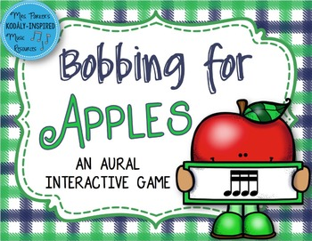 Bobbing for Apples Aural Interactive Game {Sixteenth Notes}
