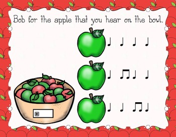 Bobbing for Apples Aural Interactive Game {Ta and Ti-Ti}