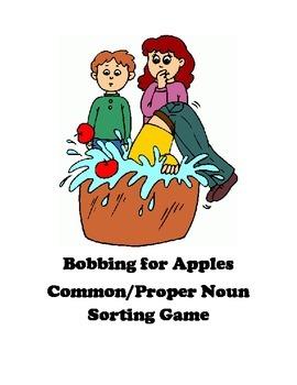 Bobbing for Apples Common/Proper Noun Sorting Game