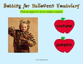 Bobbing for Halloween Vocabulary Interactive Game; Surperb for Primary & ESOL