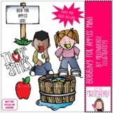 Bobbing for apples clip art - Mini - by Melonheadz Clipart