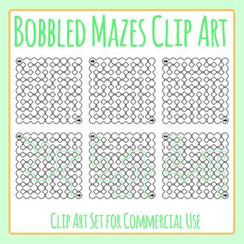 Bobble Mazes 2 Clip Art Set for Commercial Use