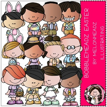 Easter clip art - Bobbleheadz - COMBO PACK- by Melonheadz