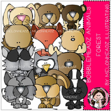 Forest Animals clip art - Bobbleheadz - COMBO PACK- by Melonheadz