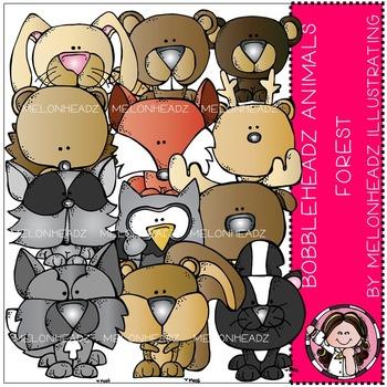 Melonheadz: Forest Animals clip art - Bobbleheadz
