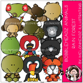 Rain Forest Animals clip art - Bobbleheadz- by Melonheadz