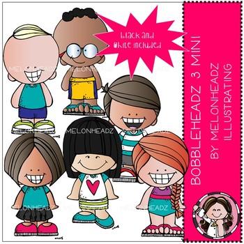 Bobbleheadz clip art 3 - Mini - by Melonheadz