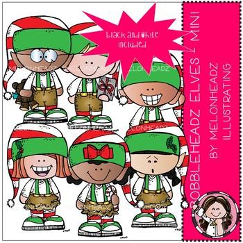 Bobbleheadz clip art - Elves - Mini - Melonheadz Clipart