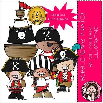 Bobbleheadz clip art - Pirates - Mini - by Melonheadz