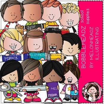Bobbleheadz clip art - School Supplies - by Melonheadz
