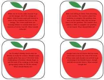 Bobbling for Apples Social Scenarios