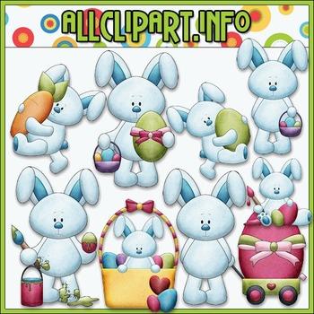 BUNDLED SET - Bobby Bunny Loves Easter Clip Art & Digital Stamp Bundle