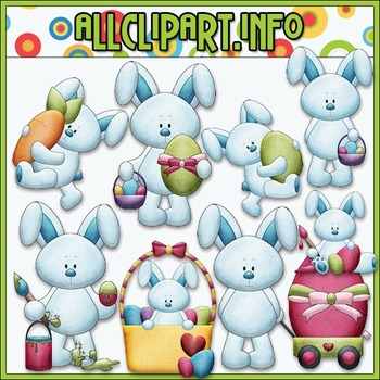 BUNDLED SET - Bobby Bunny Loves Easter Clip Art & Digital