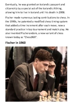Bobby Fischer Handout