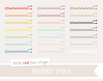 Bobby Pin Clipart; Hair, Beauty