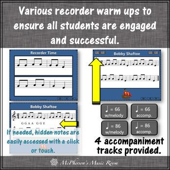Soprano Recorder Song ~ Bobby Shaftoe Interactive Visuals {Notes EGA}