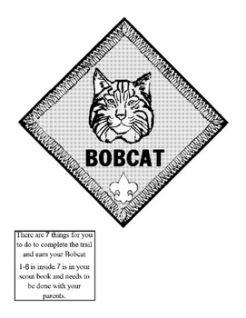 Bobcat Lapbook (Cub scouts)