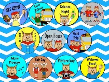 Bobcat Mascot Newsletter Clip Art