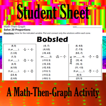 Bobsled - A Math-Then-Graph Activity - Solving Proportions