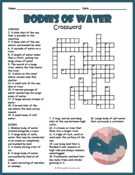 bodies of water bundle 3 vocabulary puzzles