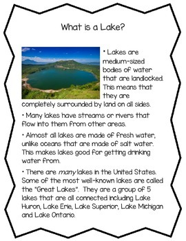 bodies of water informational readings bodies of water informational readings